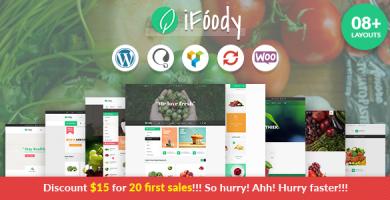 VG iFoody - قالب وردپرس فروشگاهی