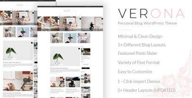 قالب Verona - قالب وردپرس سایت شخصی