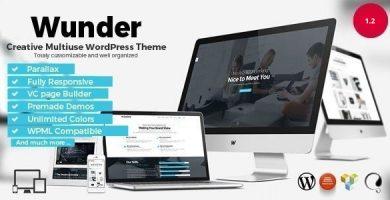Wunder - قالب وردپرس چند منظوره خلاقانه