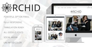 قالب Orchid - قالب وبلاگ شخصی برای وردپرس