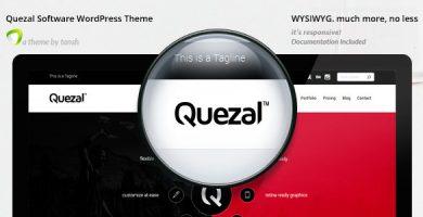 قالب Quezal - قالب وردپرس نرم افزار