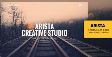 Arista - قالب وردپرس تک صفحه ای