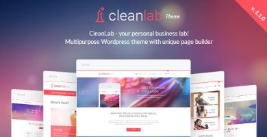 قالب CleanLab - قالب وردپرس همراه با صفحه ساز