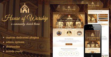 قالب House Of Worship - قالب وردپرس کلیسا