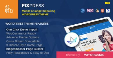 قالب FixPress - قالب وردپرس موبایل، تعمیر کامپیوتر و موبایل