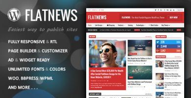 قالب FlatNews - قالب مجله وردپرس