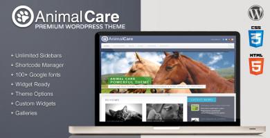 قالب Animal Care - قالب وردپرس فوق العاده