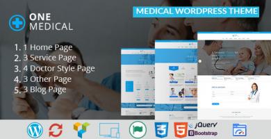 قالب OneMedical - قالب وردپرس پزشکی
