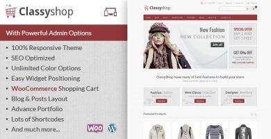 ClassyShop - قالب فروشگاهی وردپرس