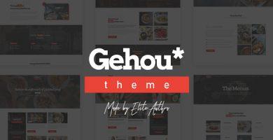 قالب Gehou - قالب وردپرس رستوران و کافه
