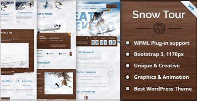 قالب Snow Tour - قالب وردپرس مسافرت و تور زمستانی