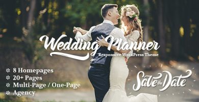 قالب Wedding Planner - قالب وردپرس عروسی و ازدواج