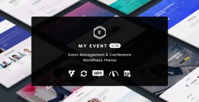 قالب My Event - قالب وردپرس رویداد و کنفرانس