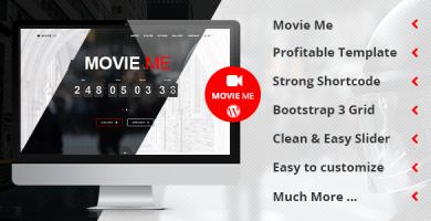 قالب Movie Me - قالب وردپرس تک صفحه ای