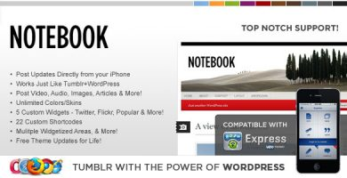WP Notebook - قالب وردپرس