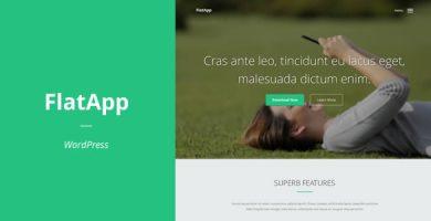 قالب FlatApp - قلب وردپرس برای سایت معرفی اپلیکیشن