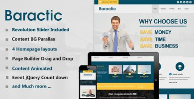 Baractic - قالب وردپرس چند منظوره