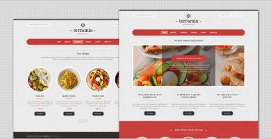 قالب Terramia - قالب وردپرس رستوران قدیمی