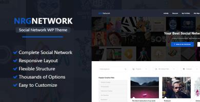 قالب NRGNetwork - قالب وردپرس شبکه های اجتماعی