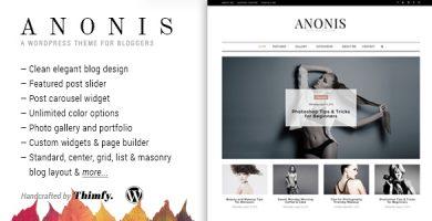 قالب Anonis - قالب وبلاگ وردپرس