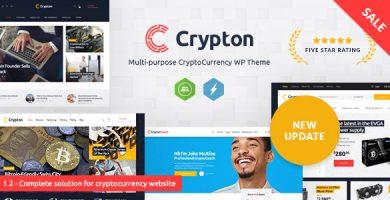قالب Crypton - قالب وردپرس ارز دیجیتال چند منظوره