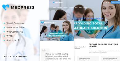 قالب MedPress - قالب وردپرس سلامتی و پزشکی