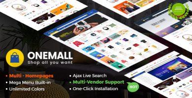 قالب وان مال | OneMall - قالب وردپرس فروشگاه