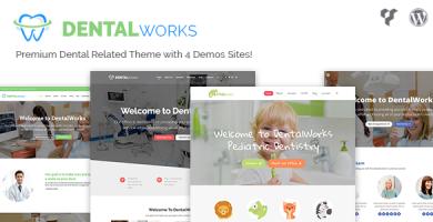 قالب DentalWorks - قالب وردپرس مرتبط با دندانپزشکی