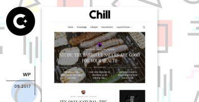 قالب Chill - قالب وردپرس وبلاگ و مجله