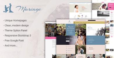 قالب Wedding & Marriage - قالب وردپرس عروسی