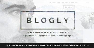 قالب Blogly - قالب وردپرس بلاگ