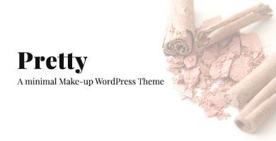 قالب Pretty - قالب سایت آرایشی