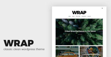قالب Wrap - قالب وردپرس بلاگ مینیمال