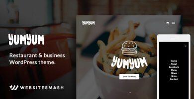 قالب YumYum - قالب وردپرس رستوران و کسب و کار