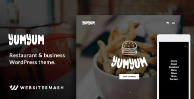 YumYum - قالب وردپرس رستوران و کسب و کار