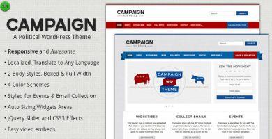 قالب Campaign - قالب سیاسی وردپرس