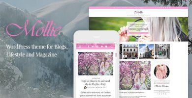 قالب Mollie - قالب وردپرس بلاگ زیبا