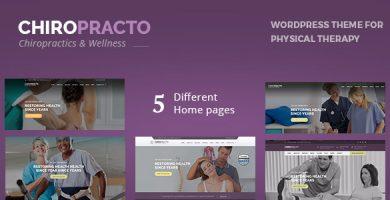 قالب Chiropracto - قالب وردپرس فیزیوتراپی