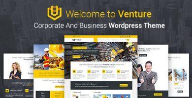 VENTURE - قالب وردپرس شرکتی و کسب و کار