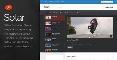 Solar - قالب ویدئو وردپرس