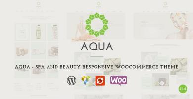 قالب Aqua - قالب سایت فروشگاه ساپورت سالن زیبایی و اسپا