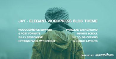 قالب Jay - قالب وبلاگ وردپرس زیبا