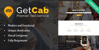 قالب GetCab - قالب وردپرس خدمات تاکسی آنلاین