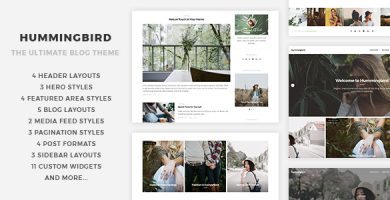 قالب Hummingbird - قالب وبلاگی وردپرس