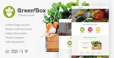 قالب Green Box - قالب وردپرس فروشگاه محصولات ارگانیک