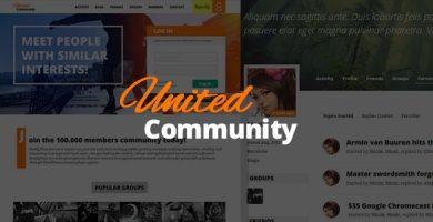 قالب UnitedCommunity - قالب بادی پرس