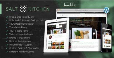 قالب SaltKitchen - قالب وردپرس دستور پخت رستوران