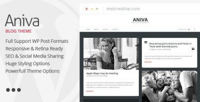 قالب Aniva - قالب بلاگی وردپرس زیبا