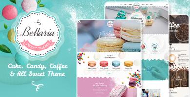قالب Bellaria - قالب سایت کیک و شیرینی