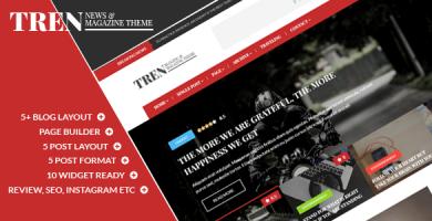 قالب Tren - قالب وردپرس وبلاگ و مجله